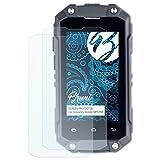 Bruni Schutzfolie kompatibel mit Simvalley-Mobile SPT-210 Folie, glasklare Bildschirmschutzfolie (2X)