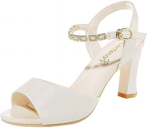 LTN Ltd - - sandals épais avec des Sandales à Talons Hauts pour Femmes, Or, 39