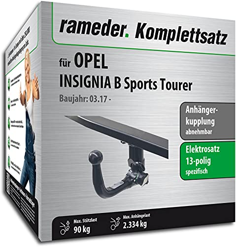 Rameder Set, Anhängerkupplung abnehmbar + 13pol Elektrik kompatibel für OPEL Insignia B Sports Tourer (152678-37807-1)