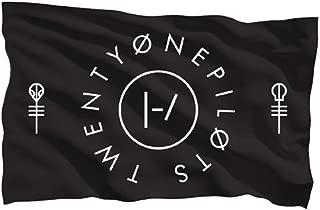 Twenty One Pilots Clique Circle Flag 5x3 Feet - Black