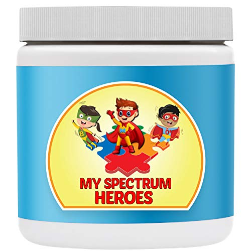 My Spectrum Heroes Kid's Multivitamin Supplement - Natural Calm, Focus, Memory, Concentration, Attention, Brain and Neural Support for Children on The Spectrum - Vitamin and Mineral Powder