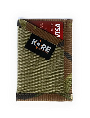 Minimalist Wallet Slim Front Pocket Card Holder Money Clip - Camo Military Duty Wallet - KORE Outfitters Made in USA