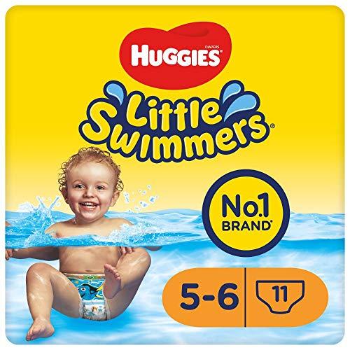 Huggies Little Swimmers Einweg-Schwimmwindeln für Babys und Kinder, Größe 5-6 (12-18 kg), 11 Bade-Windeln, Unisex