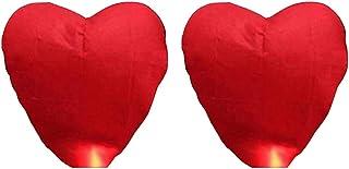 Uonlytech linternas chinas paquete de 2 linternas de papel en forma de corazón linternas japonesas chinas para bodas celebraciones ceremonias conmemorativas