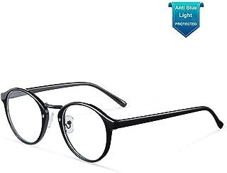 Gotang Blue Light Blocking Glasses Men Women Vintage Round Frame Computer Eyeglasses