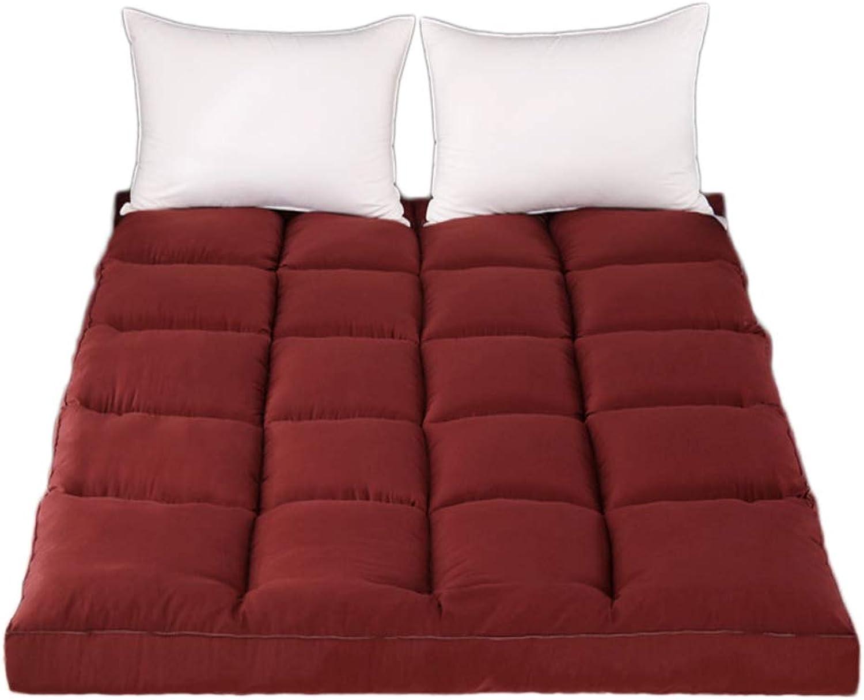 Comfort Ergonomic Thick Folding Mattress, Quilted Design Cotton Anti-mite Mattress-A 100x200cm H 10cm