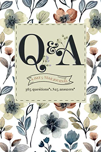 q&a a day 5-year journal: Q&A a Day gratitude journal Family, Moms Daddy Memories Seniors, for Daily Reflections 5 Year Diary Book