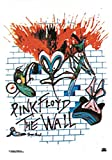 Heart Rock Licensed Flagge Pink Floyd–The Wall, Stoff, Mehrfarbig, 110x 75x 0,1cm