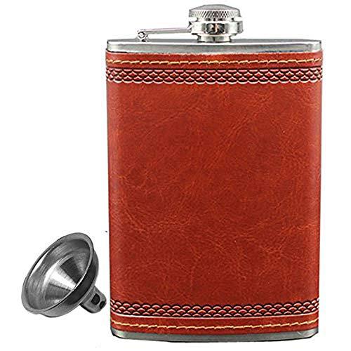 Personalizado 9oz–juego de petaca de piel Rusia petaca de acero inoxidable portátil bebida copa Botella Vino Whisky taza Flasque Alcool