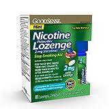 GoodSense Mini Nicotine Polacrilex Lozenge 2mg, Mint, 81-Count, Stop Smoking Aid, GoodSense Smoking Cessation Products