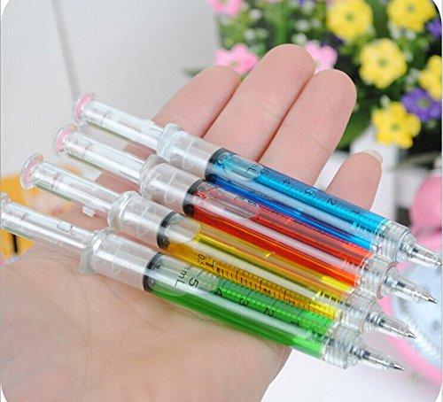 Vikenner 6 pcs. Novedad Jeringa de Sangre Bolígrafos Bolígrafos de inyección para Disfraces de Enfermeras - Color Aleatorio