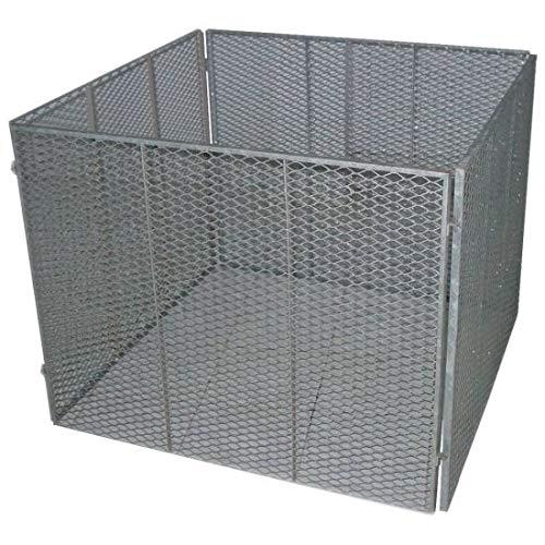 TrendLine Metallkomposter 100 x 100 x 80 cm Gartenkomposter Streckmetall