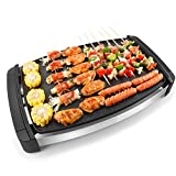 Xinyexinwang Grill multifunktions Elektrogrill nichtraucher antihaft Tragbare Outdoor BBQ Picknick Garten Terrasse Camping Reise (55,5 * 45 * 32,5 cm)