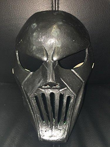 Deluxe Fiberglas schwarz Mick Thomson Maske W. Verstellbarer Riemen an jede Größe