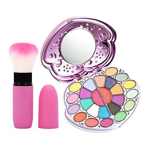 Sxgyubt Boîte de maquillage compacte pour fard à paupières, pinceau à blush pour débutants - Outil de maquillage de couleur aléatoire