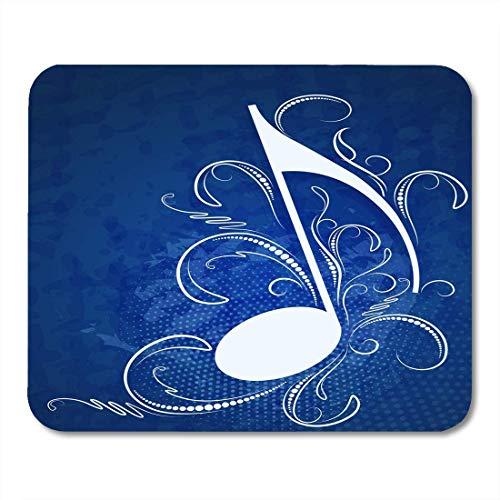 N\A Tapis de Souris Abstrait Bleu foncé dans Les lumières Gouttes Ombres Note Symbole Tapis de Souris pour Ordinateurs Portables, Ordinateurs de Bureau Tapis de Souris, Fournitures de Bureau