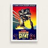 yangchunsanyue El Gigante de Hierro película clásica Robot Arte Pintura Lienzo póster Pared decoración del hogar 40x60Cm Sin Marco (ZT-1036)