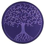 maylow - Yoga mit Herz - Yogakissen Meditationskissen mit Stickerei Baum des Lebens 33x10 cm mit Dinkelspelz gefüllt - Bezug