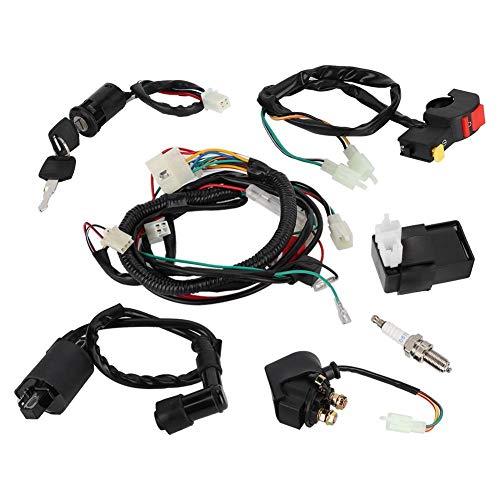 Akozon - Kit de radiador para montaje en cables, con bobina magnética para quad de 150 cc