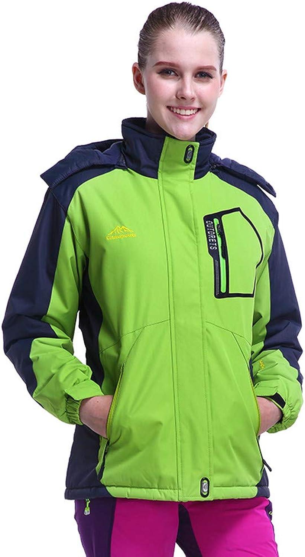 Women's Warm Windbreaker Laimeng_World Winter Outdoor Cashmere Thickening Zipper Hoodie Sport Outdoor Waterproof Coat