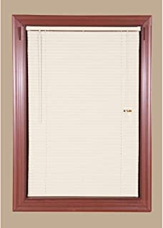 Economy Vinyl Mini Blinds Alabaster - 6 Pack- 31 in. W x 64 in. L (Actual Size 30.5 in. W)