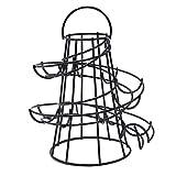 Yontree Spiraling Design Egg Skelter Dispenser Rack Egg Storage Holder Freestanding Black