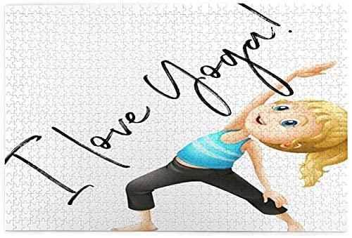 For i Love - Rompecabezas de yoga para educación (1000 piezas, rompecabezas grande, para adultos y niños, cada pieza es única