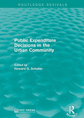 Public Expenditure Decisions in the Urban Community (Routledge Revivals)