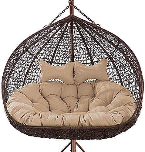GOHHK Thickened Hanging Egg Hammock Chair Cushions Without Stand, Double Swing Seat Cushion,Egg Nest Chair Pad for Indoor,Outdoor Patio Backyard