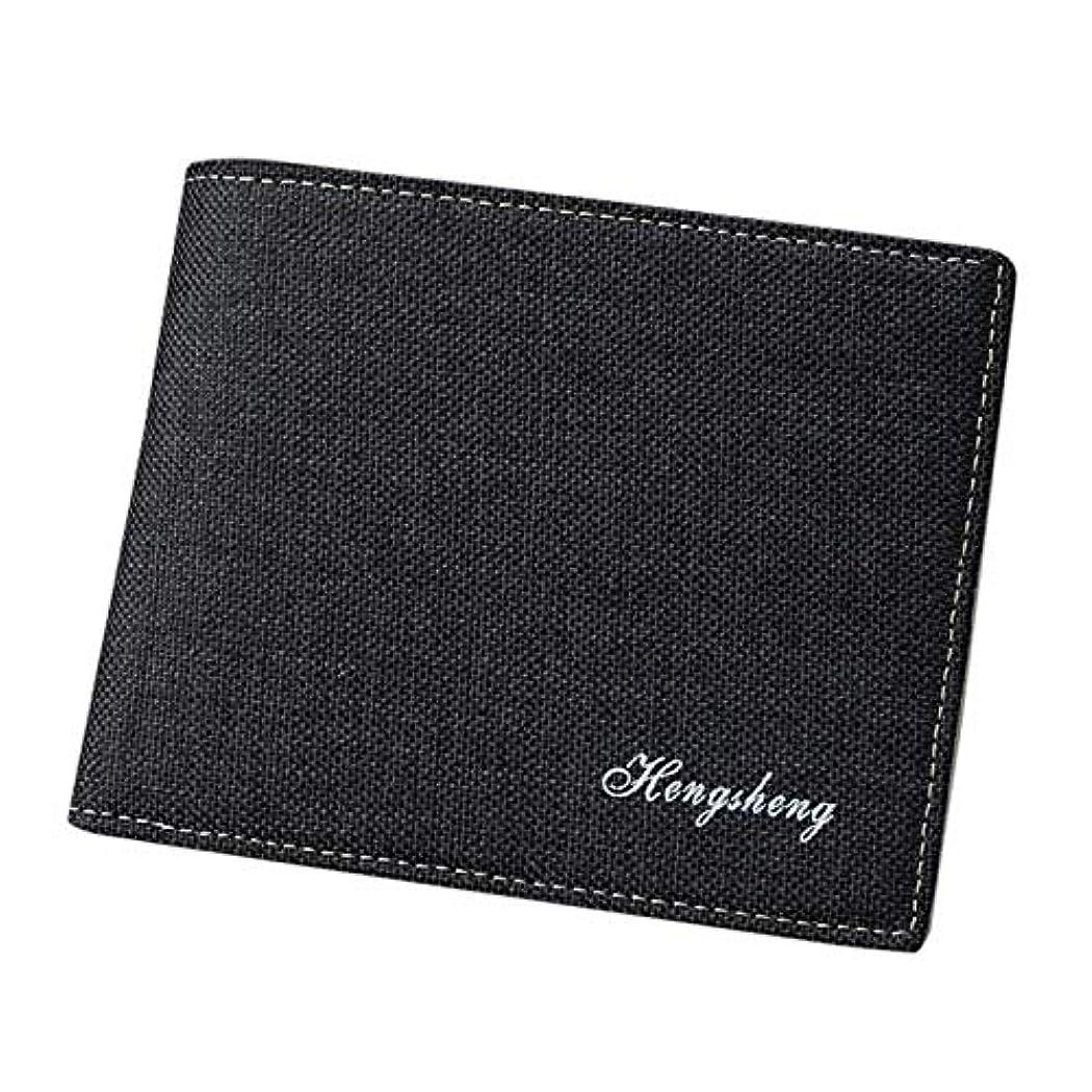 仮定、想定。推測のホストペリスコープ財布 二つ折り財布 ビンテージ デニム お札入れ カード入れ 小銭入れ ブラック ネイビー コンパクト 男女兼用 2Color