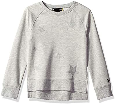 Under Armour Girls' Little Fashion Pullover Sweater, True Grey Heath, 6