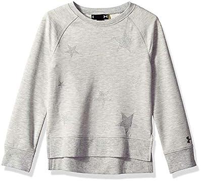 Under Armour Girls' Little Fashion Pullover Sweater, True Grey Heath, 5