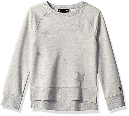 Under Armour Girls' Little Fashion Pullover Sweater, True Grey Heath, 5