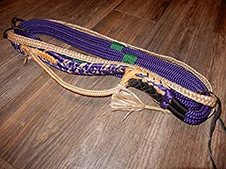 Alligator Bull Rope Purple Custom PRO 9x7 LH Bull Riding - EPT Bull Ropes