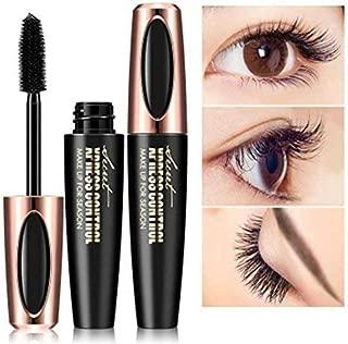 4D Silk Fiber Eyelash Mascara Cream, Premium Black Waterproof Eyelash Extension Newest Eye Makeup cosmetic with 1 Eyelash Brush (black1)