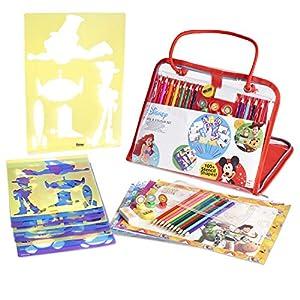 Disney Maletin de Dibujo para Niñas y Niños Kit de Manualidades