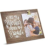 Juvale Regalos para mamá marco de fotos de madera con clip para cumpleaños, día de la madre (12 x 9 pulgadas)