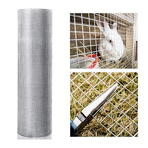 Goplus Hardware Cloth, 1/2 inch 19Gauge Chicken Wire, Galvanized Metal Mesh Fencing Animal Barrier (36'' x 50')