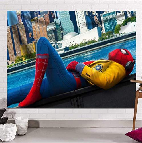 N/ A The Avengers Tapisserie Wandbehang Gebürsteter Stoff Sandy Beach Wurf Teppich Decke Camping Zelt Reisematratze Schlaftapisserie Captain America Hulk Iron Man Spider-Man 130 * 150cm E