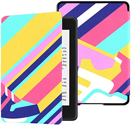 wasserfeste Stoffhülle für Kindle Paperwhite (10. Generation, Release 2018), Sneaker-Schuh auf polygonaler, Heller Tablet-Hülle