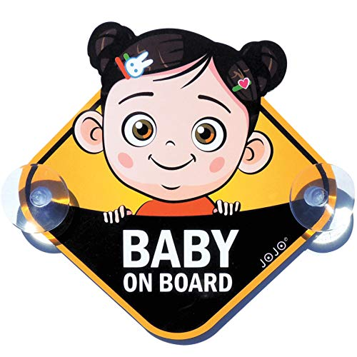 JOJO Baby on Board Safety Sign Cars, Cute Girl, Nice Gift for New Parents by Smart Vision Group