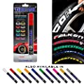 Tire Ink | Paint Pen for Car Tires | Permanent and Waterproof | Carwash Safe (2 Pens, Red)