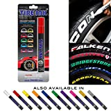 Tire Ink Paint Pen For Car Tires Permanent and Waterproof Carwash, Safe 8 Colors Available, Red, 1 Pen