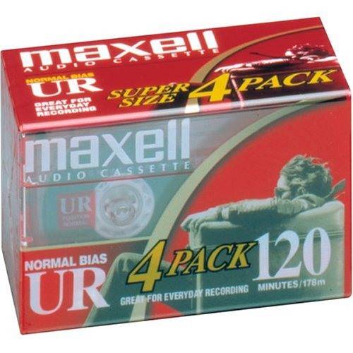 MAXELL UR-120 Blank Audio Cassette Tape -4 pack (Discontinued by Manufacturer)