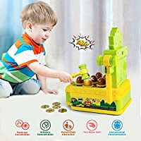 VATOS Acchiappa la Talpa,Mini-Giocattolo elettronico Arcade,Giocattolo Fornito di Monete e di 2 martelli Giocattolo,Gioco interattivo per i Bambini e Bambini di età Compresa tra 3-6 Anni #1