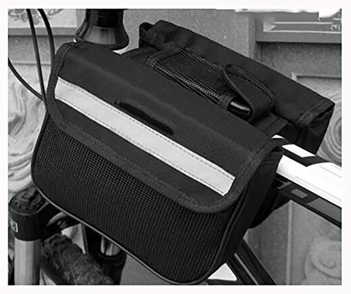 Bolsa Manillar para Telefono Bicicleta,Bolsas de Bicicleta,Bolsa Bici,Bolso Bicicleta Impermeable y con Ventana para Pantalla Táctil,para iPhone,Samsung y Otros Smartphones Bike F-Aumento del negro 1