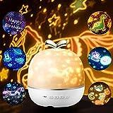ASANMU Proyector de luz de estrellas para niños, proyector LED de cielo estrellado, luz nocturna para bebés, rotación de 360°, para decoración de habitación de los niños, regalo