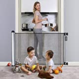 Retractable Baby Gate 48' Extra Wide Baby Gate Pet Gate Easy Latch and Flexible Mesh Child...