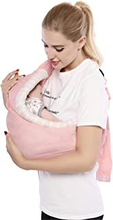 Baby Carrier by Cuby, Natural Cotton Baby Sling Baby Holder Extra Comfortable for Easy Wearing Carrying of Newborn, Infant Toddler and Ideal for Baby Registry, Nursing,Breastfeeding (Pink Memories)