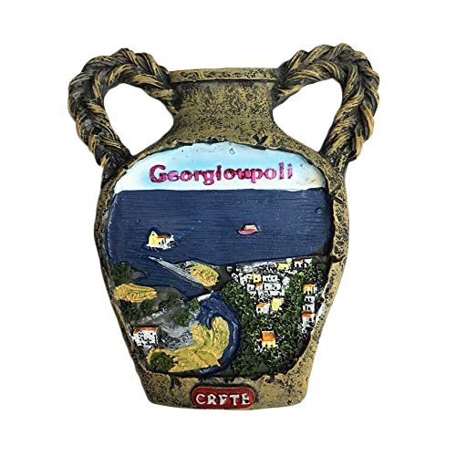 3D Crete Greece Refrigerator Magnet Classical pot Tourist Souvenirs Stickers,Home & Kitchen Decoration Greece Fridge Magnet From China